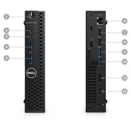 DELL OptiPlex MFF 3050 Core i3-7100T/4GB/128GB SSD/Intel HD/Win 10 Pro 64bit/3Yr