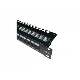 "oem DATACOM Patch panel 19"" UTP 24 port CAT6 LSA 1U BK (3x8p)hor.zářez"