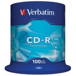 Verbatim Extra Protection CD-R DL 700MB/80min, 52x, 100-cake (43411)