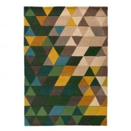 Vlněný koberec Flair Rugs Illusion Prism Green Triangles, 160 x 220 cm