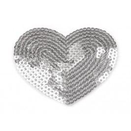 Nažehlovačka srdce s flitry (1 ks)